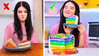 8 DIY Sfida Tra Cibo Arcobaleno E Cibo Reale!