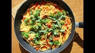 Макароны с тунцом за 15 минут. Рецепт из Сицилии.