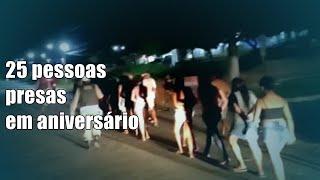 25 pessoas são levadas à DP após serem flagradas em festa de aniversário, em Princesa Isabel (PB)