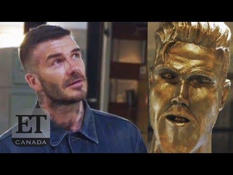 David Beckham Pranked With Fake Statue (видео)