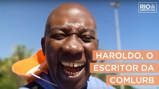 Haroldo, o gari escritor, é autor de romance com histórias colhidas na rua