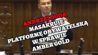Andrzej Duda masakruje PO po Aferze Amber Gold