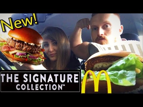 NEW McDONALD'S BURGER TASTE TEST | SIGNATURE COLLECTION |