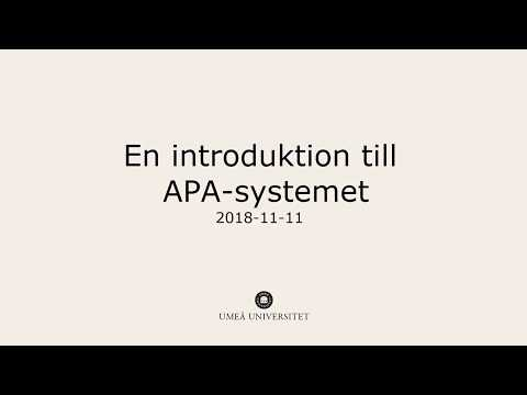 Film: En introduktion till APA-systemet