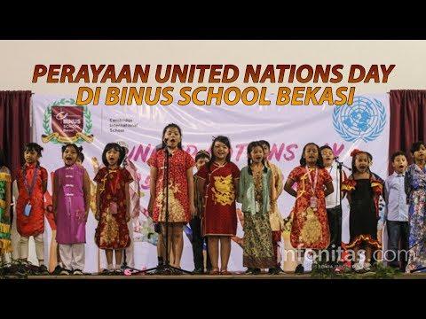 Perayaan United Nations Day di Binus School Bekasi