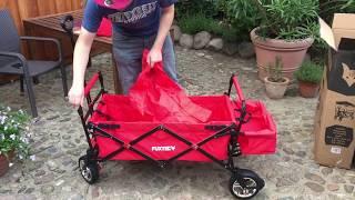 FUXTEC CT 500 faltbarer Bollerwagen im Praxistest | Aufbau & Abbau