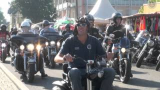 preview picture of video 'Eröffnung Rollstuhl Harley European Bike Week Faak am See'