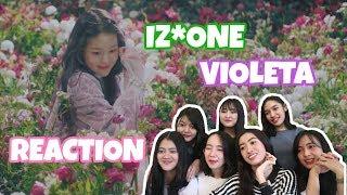 IZ*ONE (아이즈원)   비올레타 (Violeta) MV REACTION By MYZ*ONE (Indonesia)