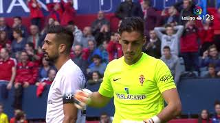 Resumen de Osasuna vs Sporting de Gijón (2-0)