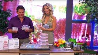 Katie Steiner präsentiert Frischhaltedosen aus Glas