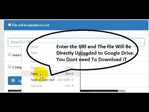 How to Save files to [Google Drive/DropBox/ etc ] from URL