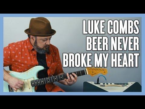 Luke Combs Beer Never Broke My Heart Guitar Lesson