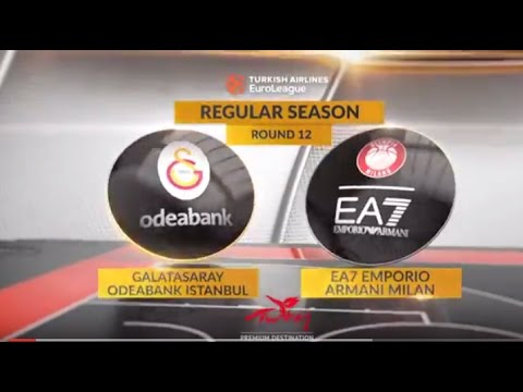 EuroLeague Highlights RS Round 12: Galatasaray Odeabank Istanbul 83-80 EA7 Emporio Armani Milan
