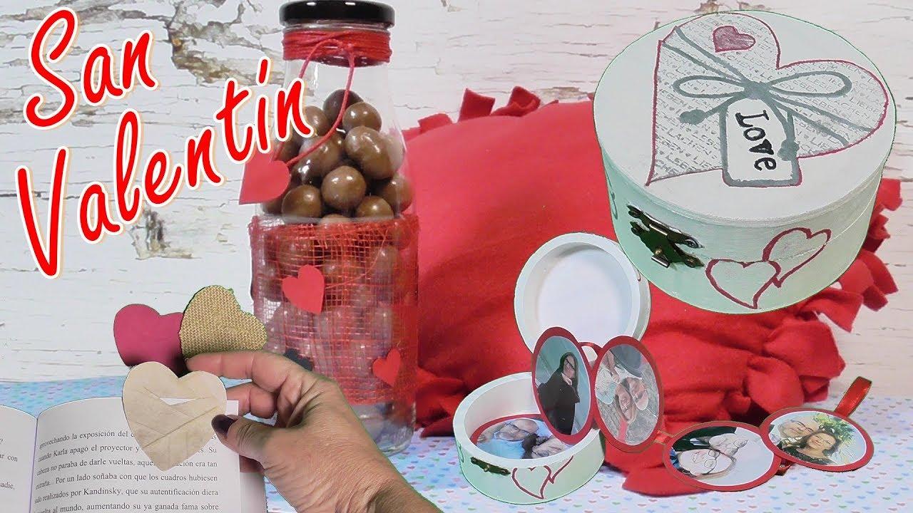 3 Ideas para San Valentín. Regalos fáciles. Dia de la amistad