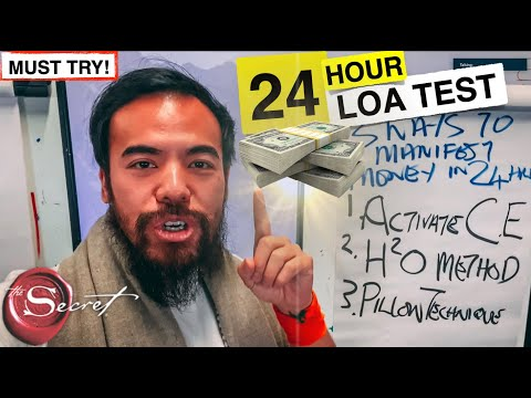 , title : '3 Ways to Manifest Money in 24 Hours or LESS | Law of Attraction TEST
