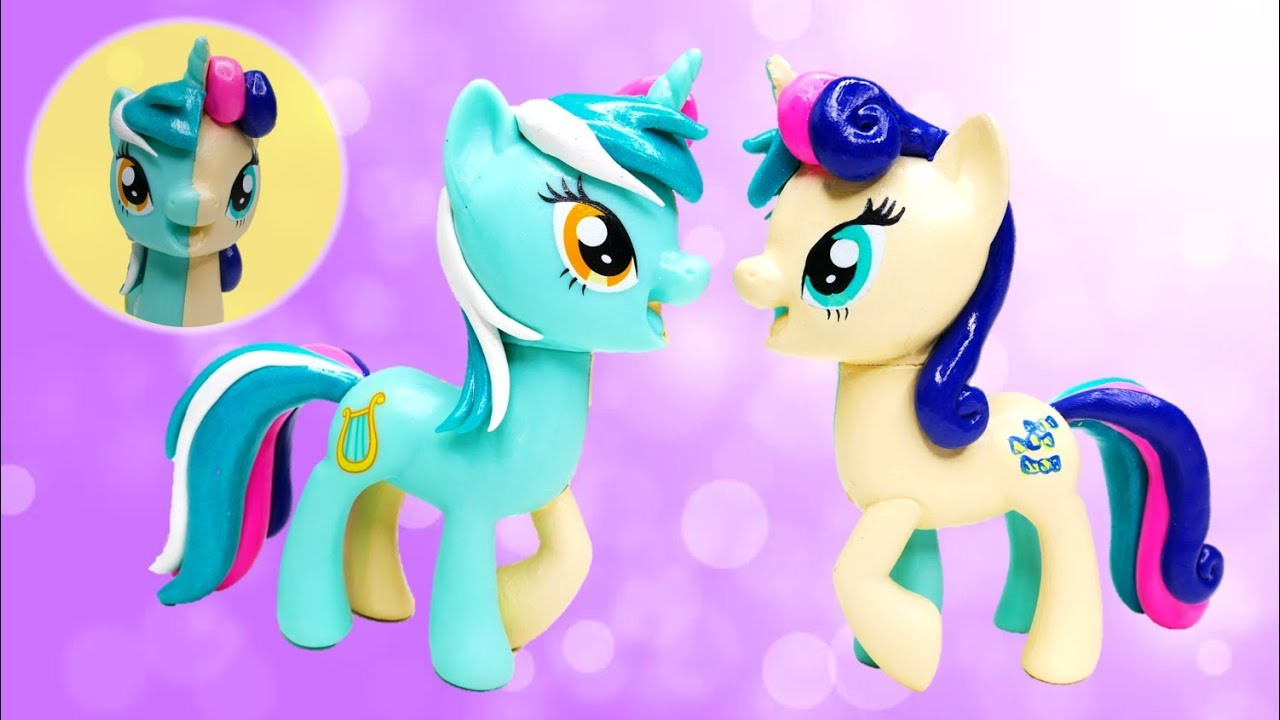 My Little Pony Custom Split Pony LYRA and BON BON Sweetie Drops