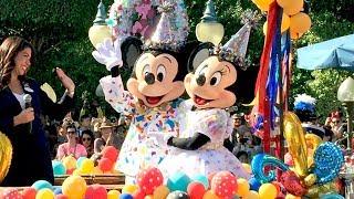 Mickey & Minnie Mouse 90th Birthday DISNEYLAND Parade W/ Ninety Disney Characters (Some Rare!)