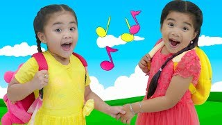 My Name Song  Annie & Suri Pretend Play Sing Along Nursery Rhymes & Kids Song