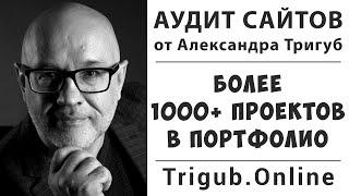 Аудит сайта в видео формате от Александра Тригуб. Портфолио.