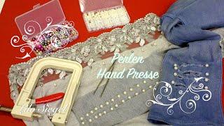 Perlen Hand Presse Stoffe mit Perlen einfach verzieren - Lilo Siegel
