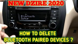 DELETE BLUETOOTH PAIRED DEVICES IN DZIRE 2020||