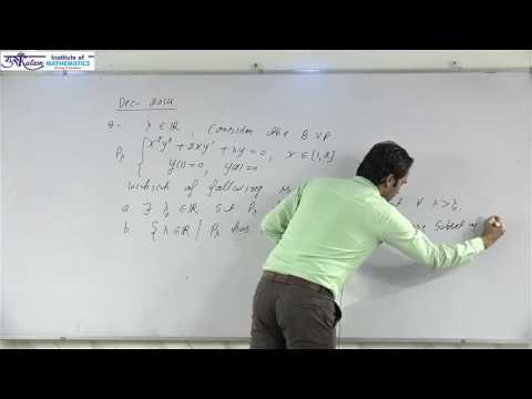 Boundary value problem Dec 2014