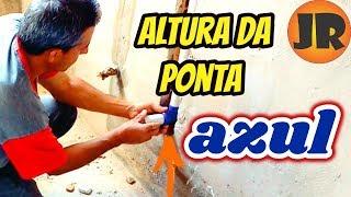 ALTURA DA VÁLVULA E DO CANOTE PONTA AZUL DA BACIA SANITÁRIA