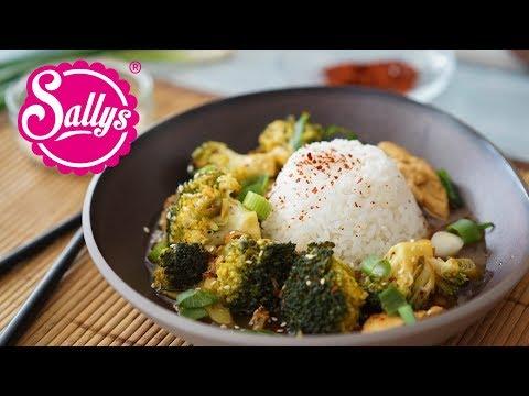 Asiatisches Brokkoli Chicken mit Jasminreis / 20 Minuten Rezept