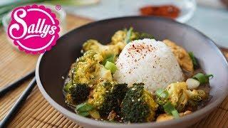 Asiatisches Brokkoli Chicken mit Jasminreis / 20 Minuten Rezept / Sallys Welt