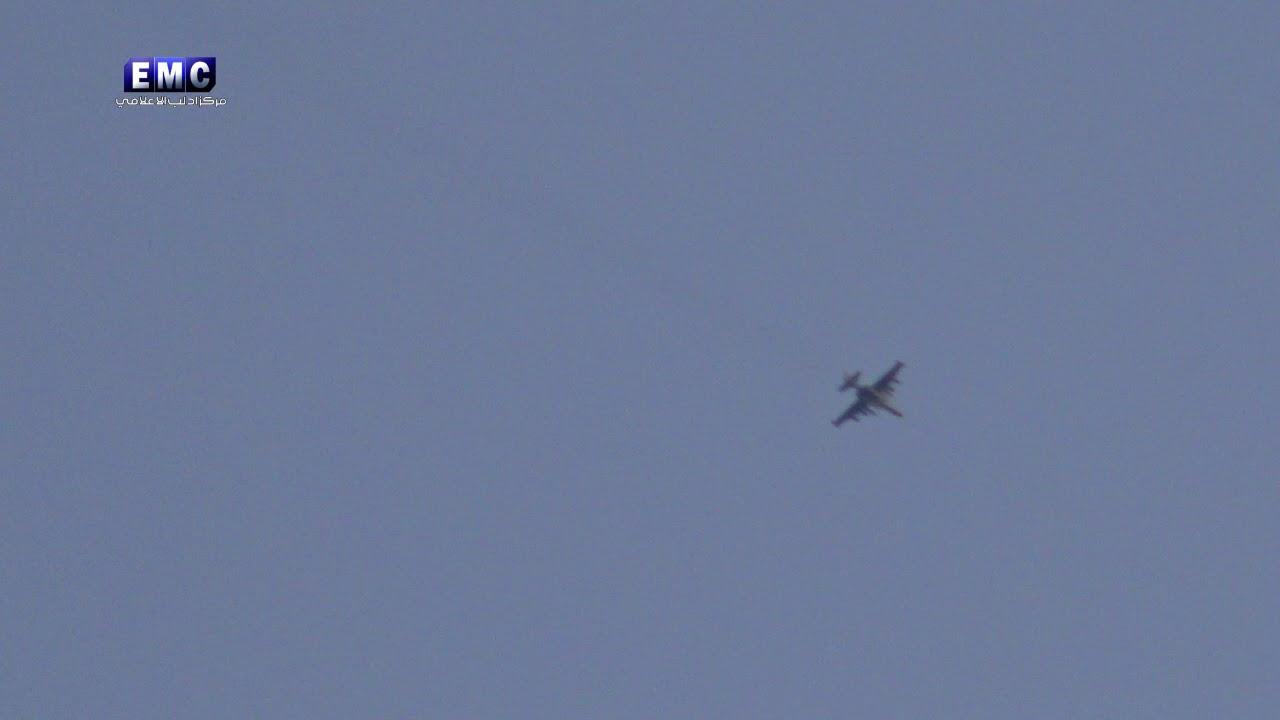 Виртуозно уходящий от обстрела терористов российский Су-25 попал на видео