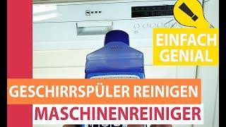 Spülmaschine reinigen & entkalken - Geschirrspüler mit einem Spülmaschinenreiniger sauber bekommen