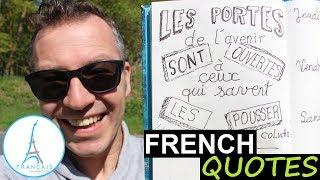 FRENCH QUOTES - Les Portes De Lavenir... COLUCHE   Learn French Culture