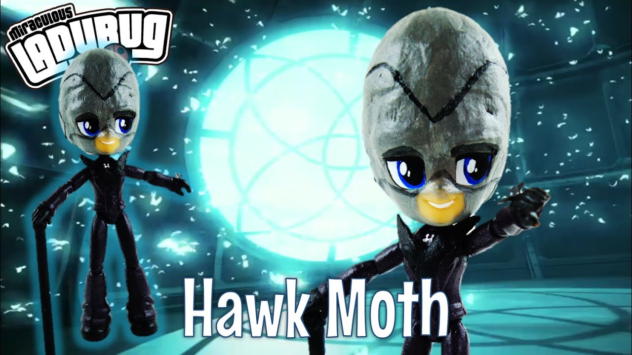 HAWK MOTH Miraculous Ladybug & Cat Noir Villain Custom Doll with Flash Sentry