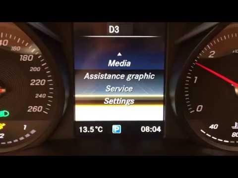 Mercedes C Class w205 and GLC class X253 AMG cluster menu