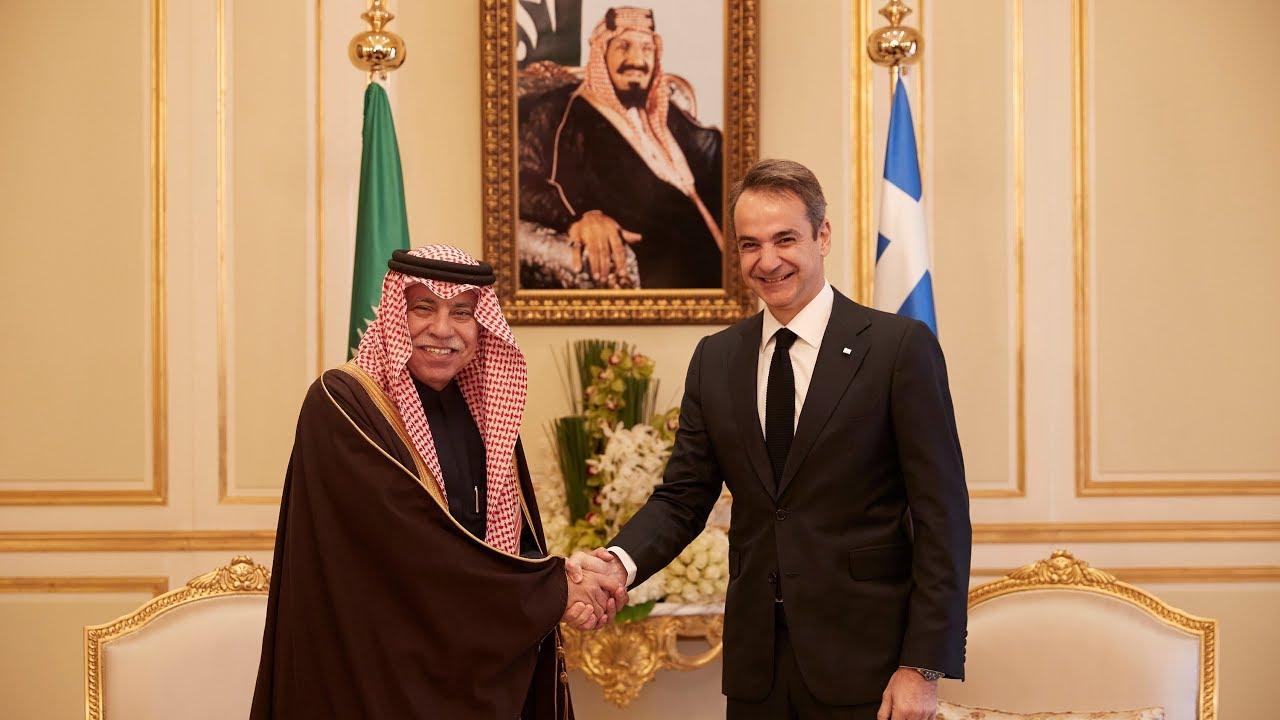 Συνάντηση Κ. Μητσοτάκη με τον Υπουργό Εμπορίου και Επενδύσεων της Σ. Αραβίας