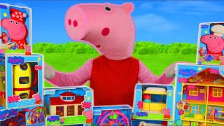 Peppa Pig Surprise Toys: Kitchen, Playhouse, Camper Van, Bus & Toy Vehicles for Kids