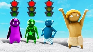DEADLY RED LIGHT, GREEN LIGHT CHALLENGE! (The Pals Gang Beasts)