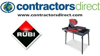 RUBI DR-350 Wet Masonry Saw ✓ Contractors Direct
