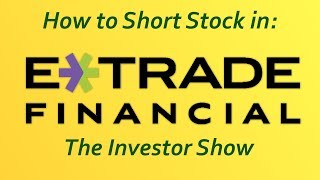 How to short stock with etrade(2 min)