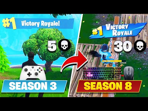 9 Month Progression From Xbox To PC (Controller To Mouse & Keyboard) - Fortnite Battle Royale