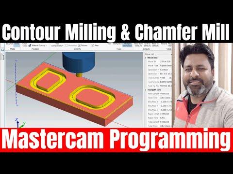 Mastercam 2019 Contour Milling tool path hindi tutorial for