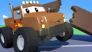 Odtahové auto pro děti - Monster Truck Marley Měl Nehodu na Střeše!