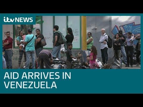 First aid shipment arrives in Venezuela | ITV News