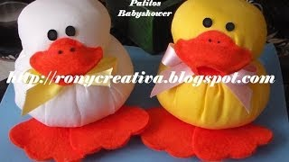 Manualidades para  BABY SHOWER - PATITOS de tela / Ronycreativa