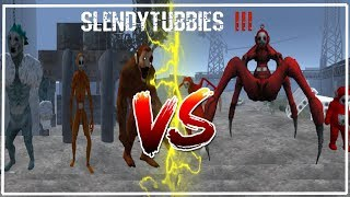 """Los """"Amigos"""" VS Equipo Po   Slendytubbies 3 Batallas #2"""