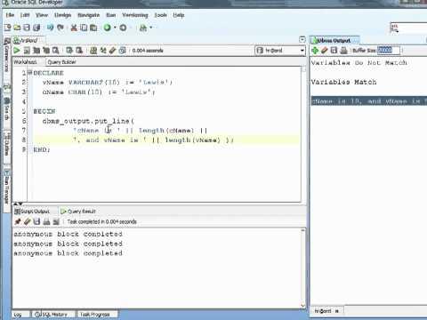 Oracle PL/SQL Tutorial – Strings
