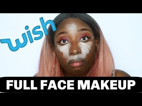 Full face using Wish.com Makeup! Everything under $5!