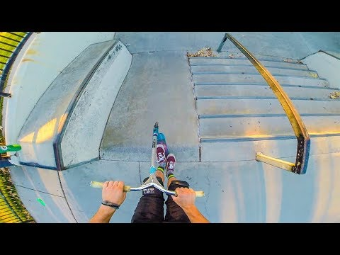 MANUAL ENTIRE SKATEPARK ON SCOOTER!