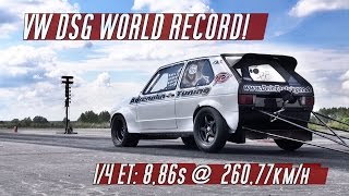 DSG World Record! VW Golf Mk1 FWD run 8,86s @ 260kmh in Finsterwalde 2016