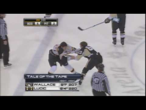 Milan Lucic vs Tim Wallace